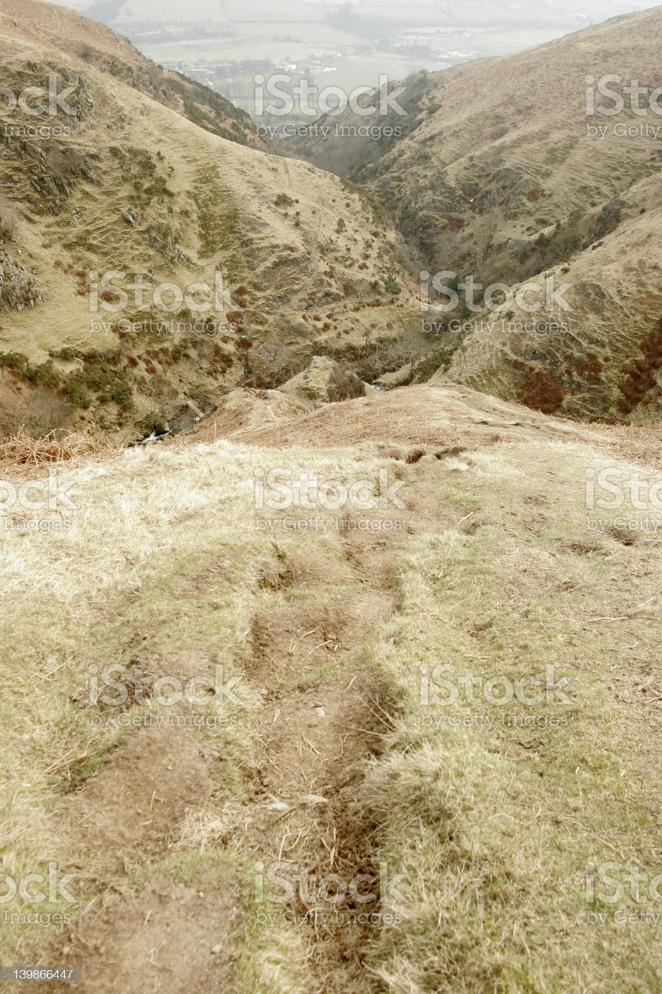 Hilltop path royalty-free stock photo