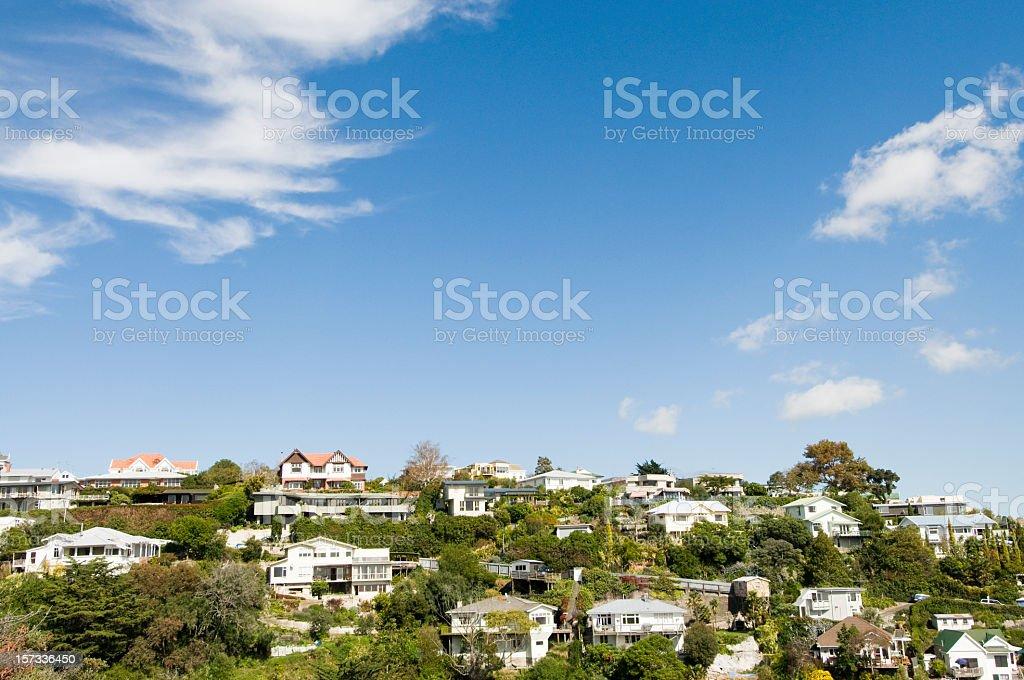 Hilltop Suburban Real Estate royalty-free stock photo