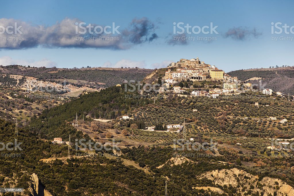 Hilltop Town royalty-free stock photo