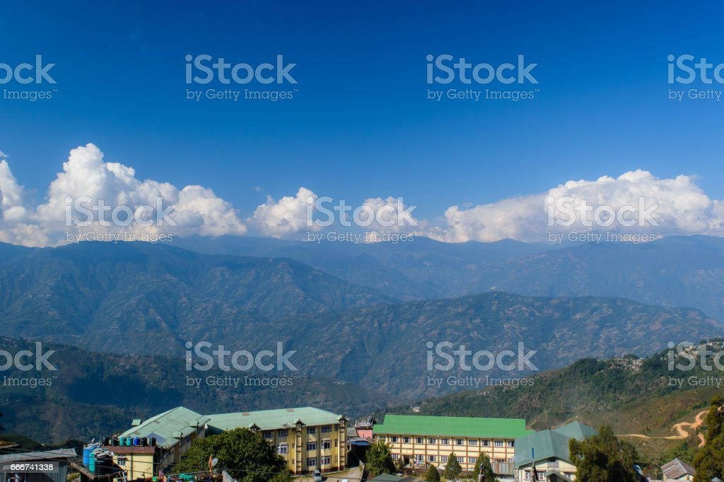 Hilltop view stock photo
