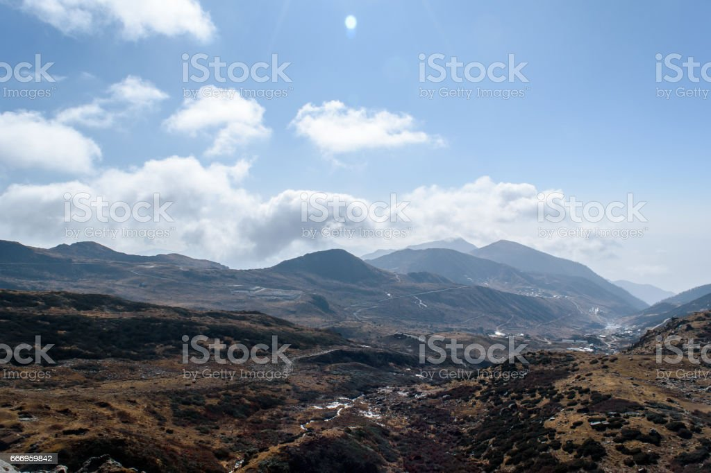 A hilltop view stock photo
