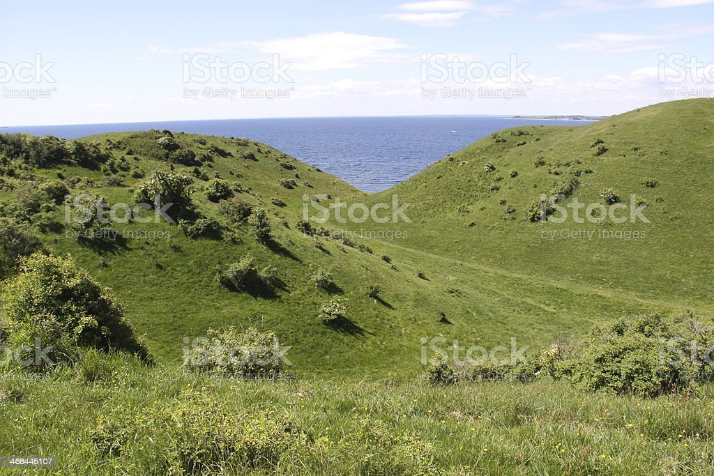 Hilly country stock photo