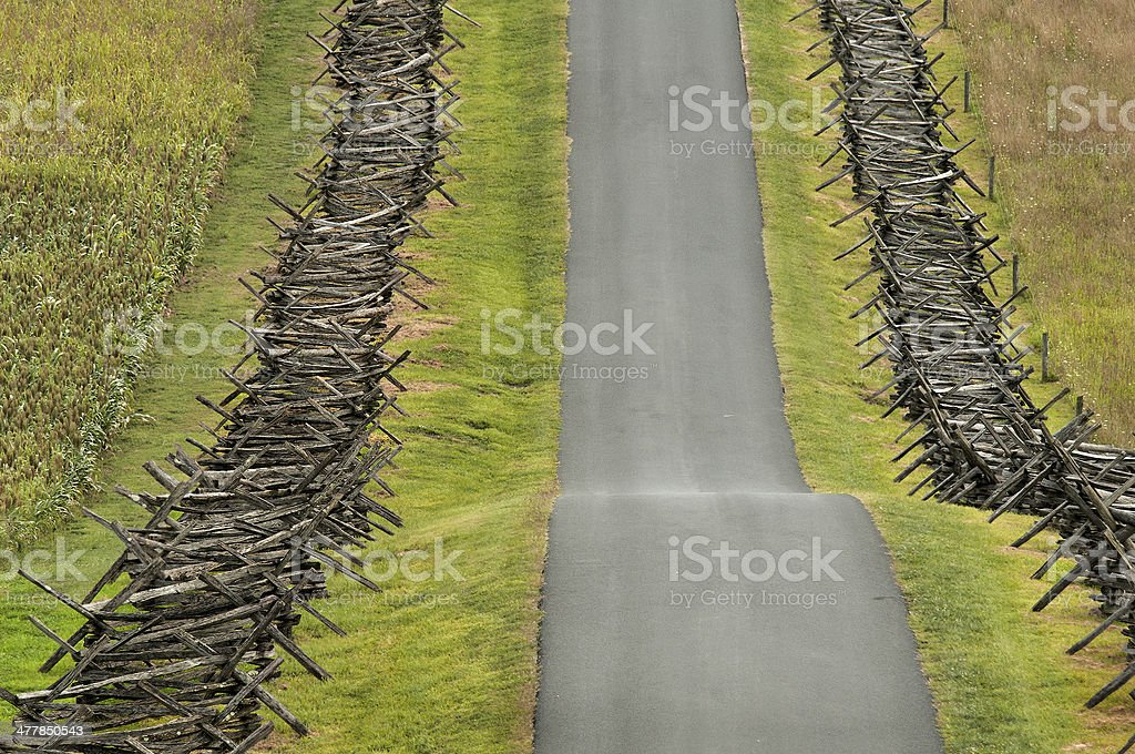Hilly Country Road royalty-free stock photo