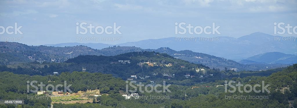 Hilly lands stock photo