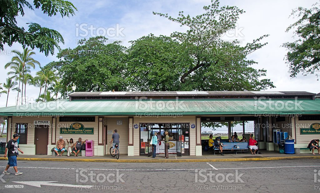 Hilo Bus Station royalty-free stock photo