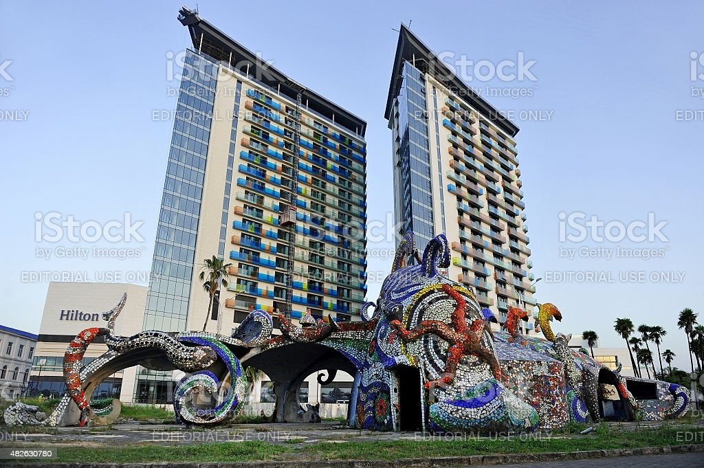 Hilton Hotel in Batumi stock photo