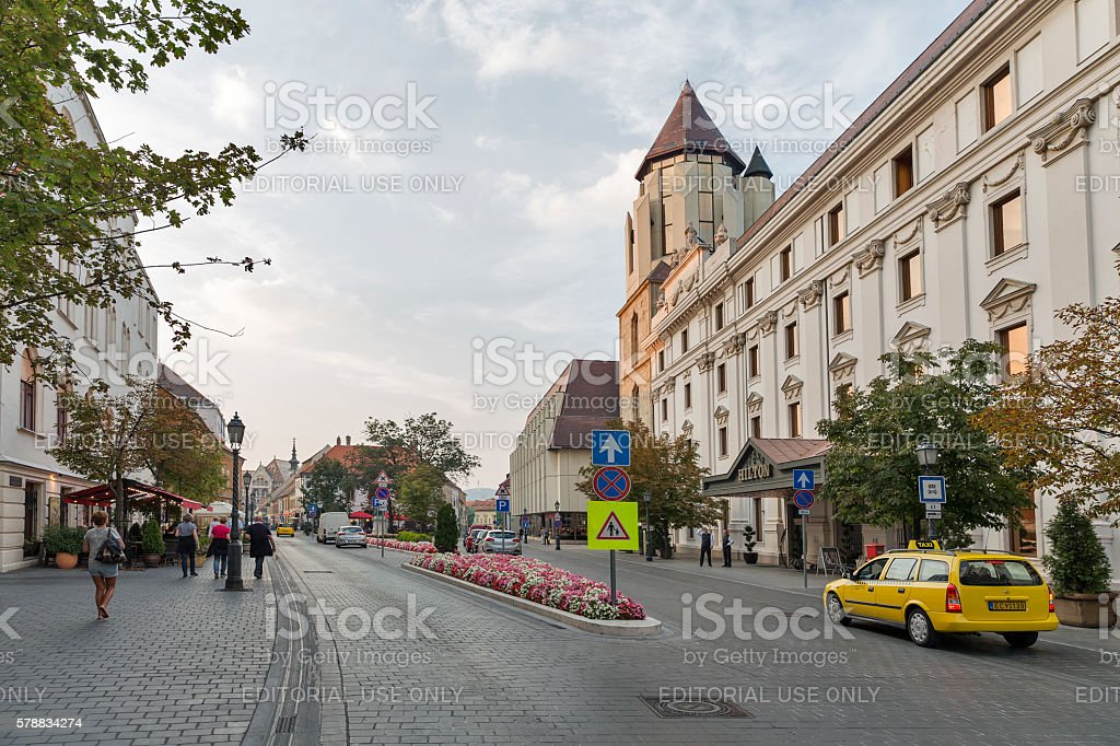 Hilton Hotel in Budapest castle district, Hungary. stock photo