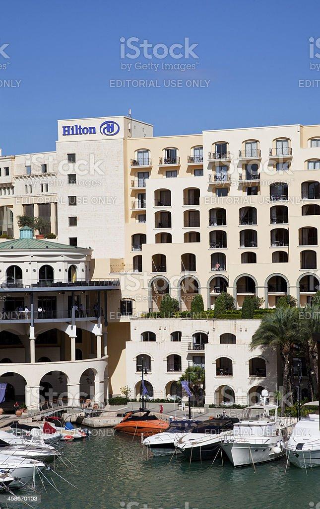 Hilton Hotel inS t Julian's, Malta stock photo