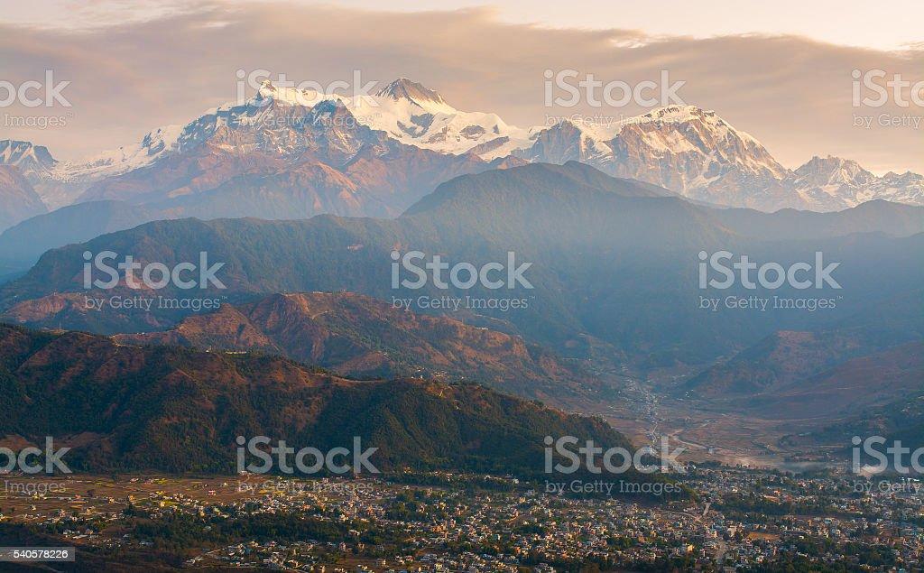 Himalaya hill stock photo