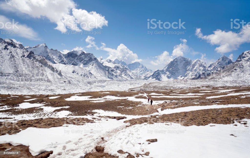 Himalaya mountain landscape in Everest region, Nepal stock photo
