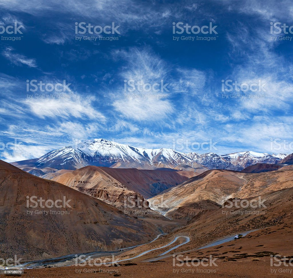 Himalaya mountain landscape in Ladakh, Jammu and Kashmir State, stock photo