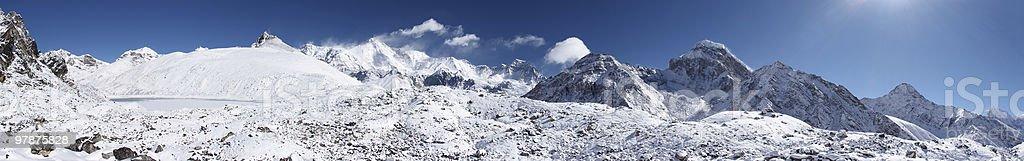 Himalaya mountain panorama, Nepal royalty-free stock photo