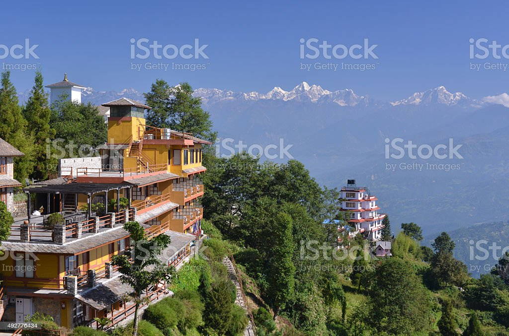 Himalaya Mountain resort stock photo