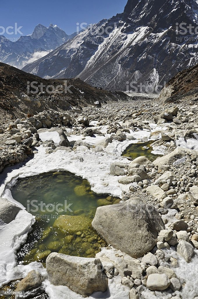 Himalaya mountains stock photo