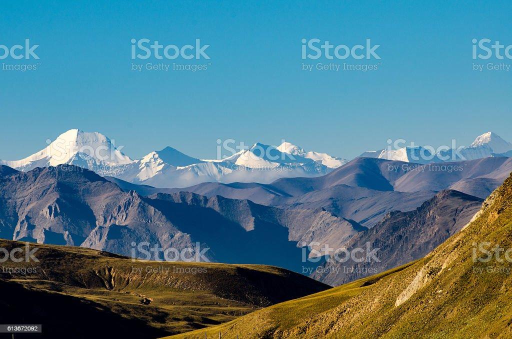 Himalaya mountains, Tibet stock photo