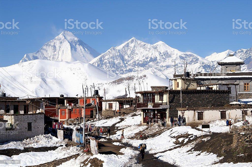 Himalaya, Nepal. Dhaulagiri (8167m) stock photo