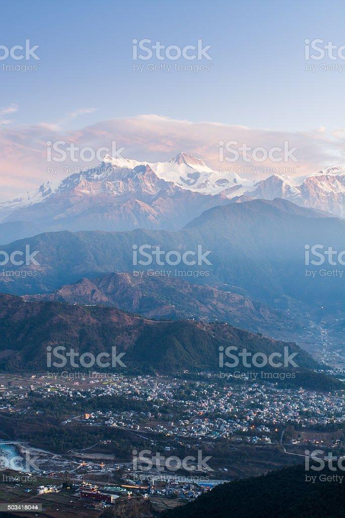 Himalaya on Nepal stock photo