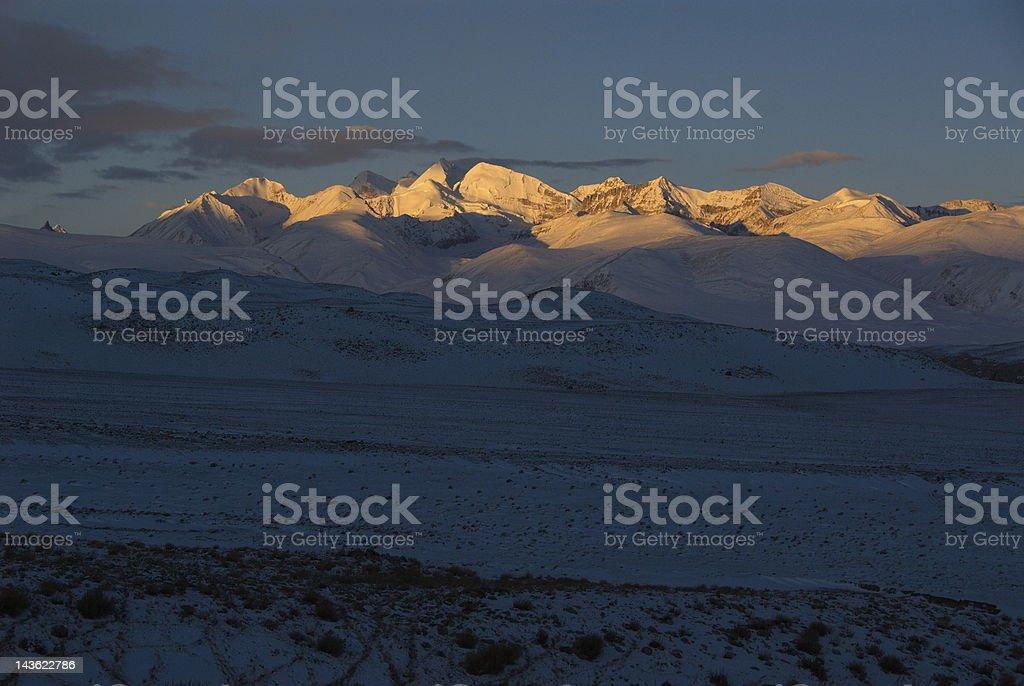 Himalaya sunrise royalty-free stock photo