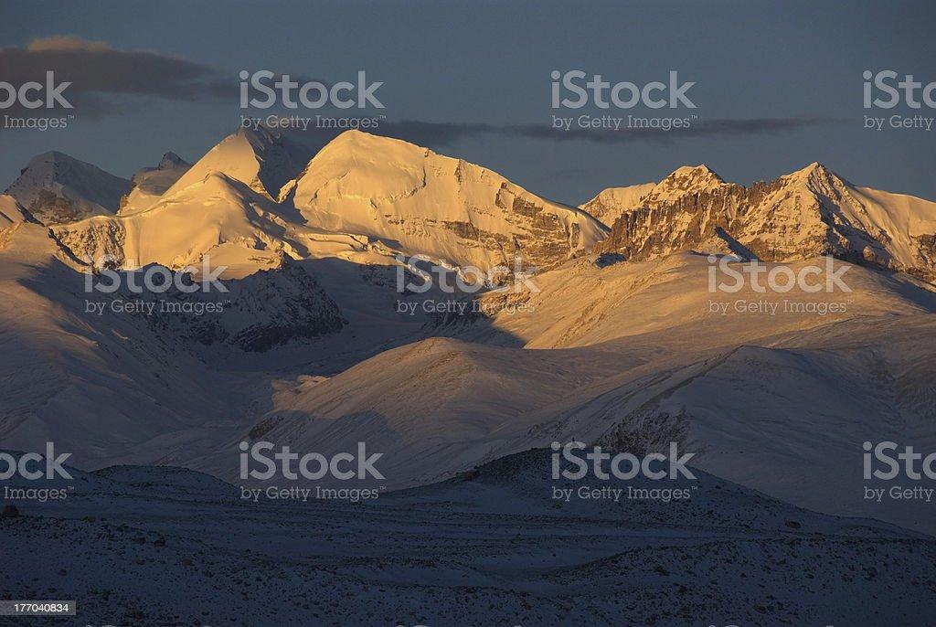 Himalaya sunrise stock photo