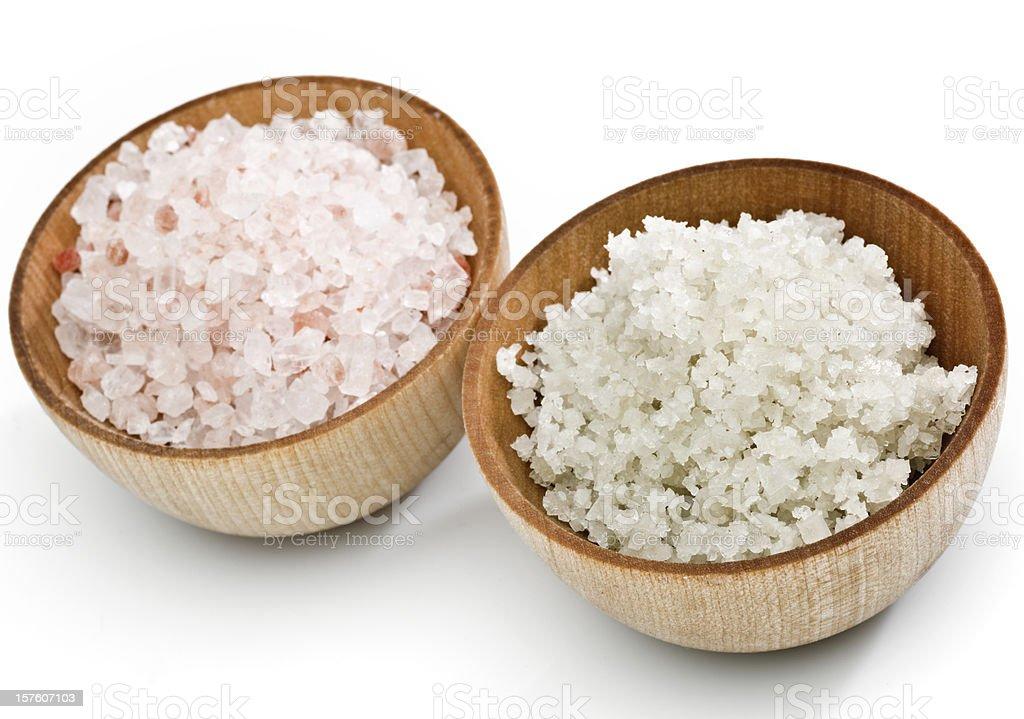Himalayan and sea salt royalty-free stock photo