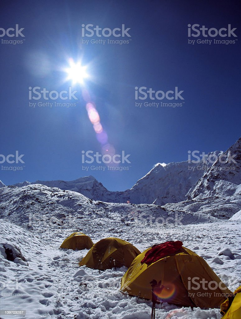 Himalayan base camp royalty-free stock photo