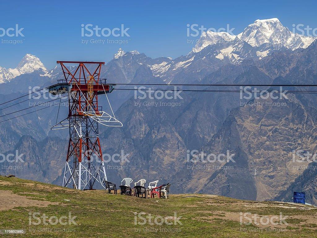 Himalayan camp stock photo