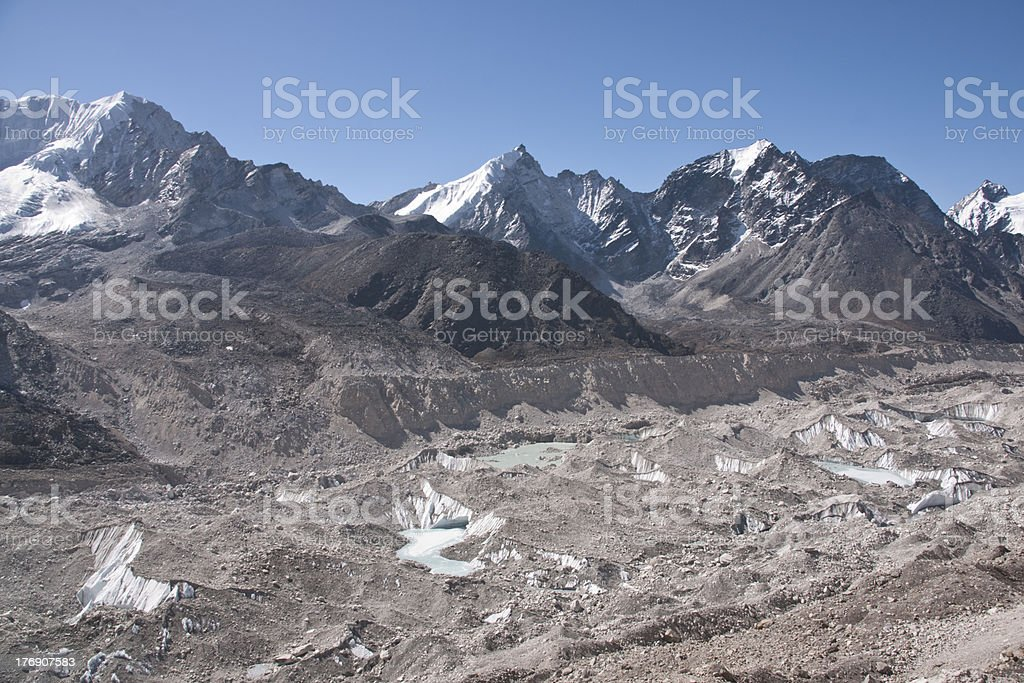 Himalayan Glacier stock photo