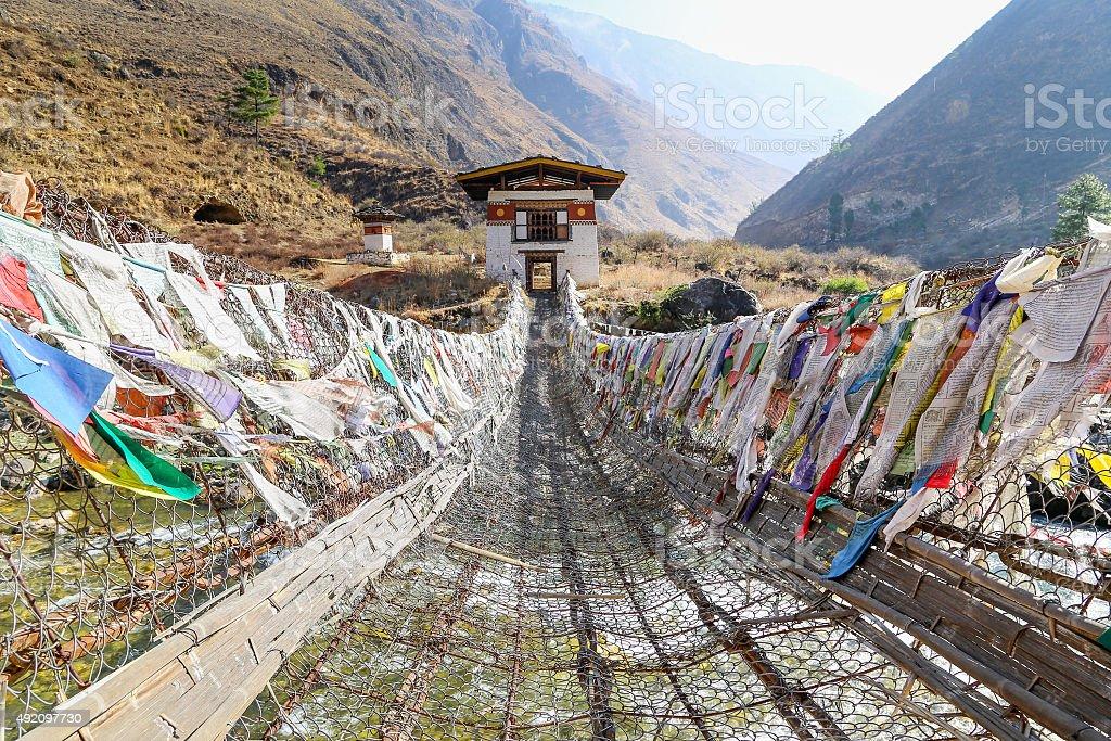 Himalayan Iron Bridge stock photo