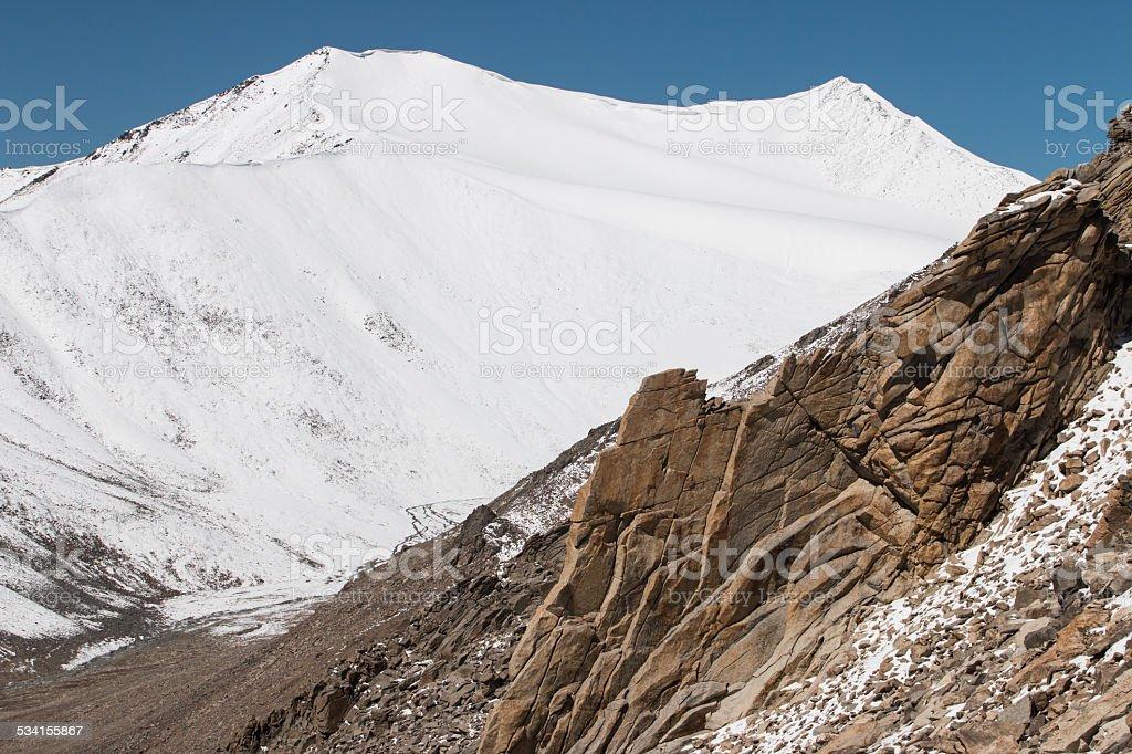 Himalayan landscape in Himalayas stock photo