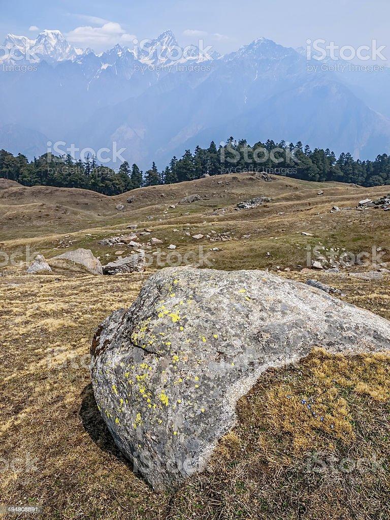Himalayan landscape stock photo