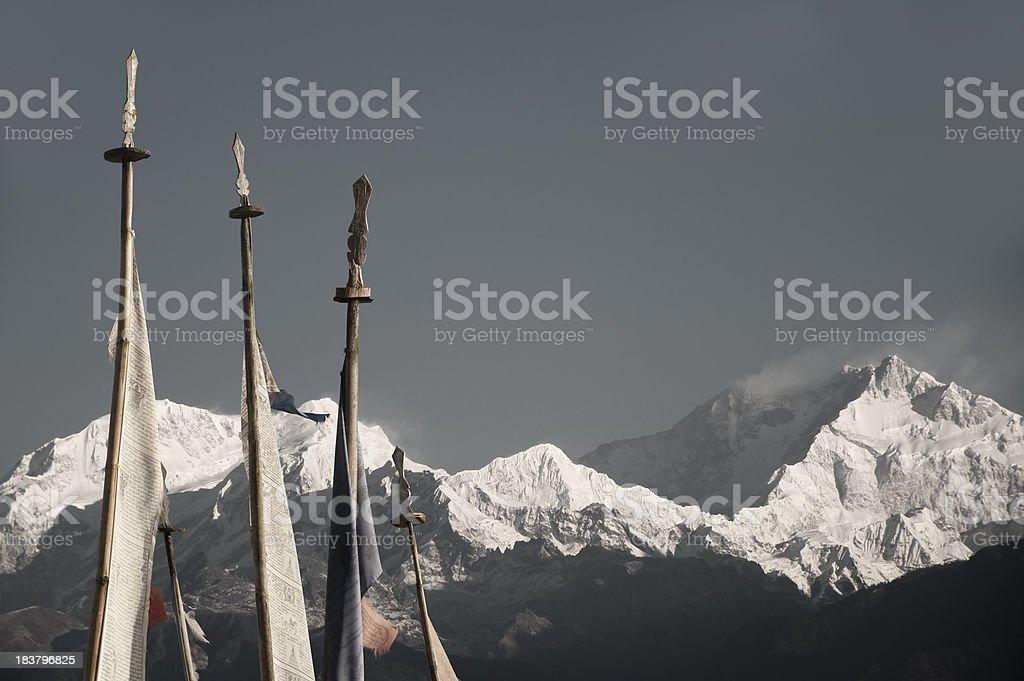 Himalayan Landscape with Kanchenjunga royalty-free stock photo