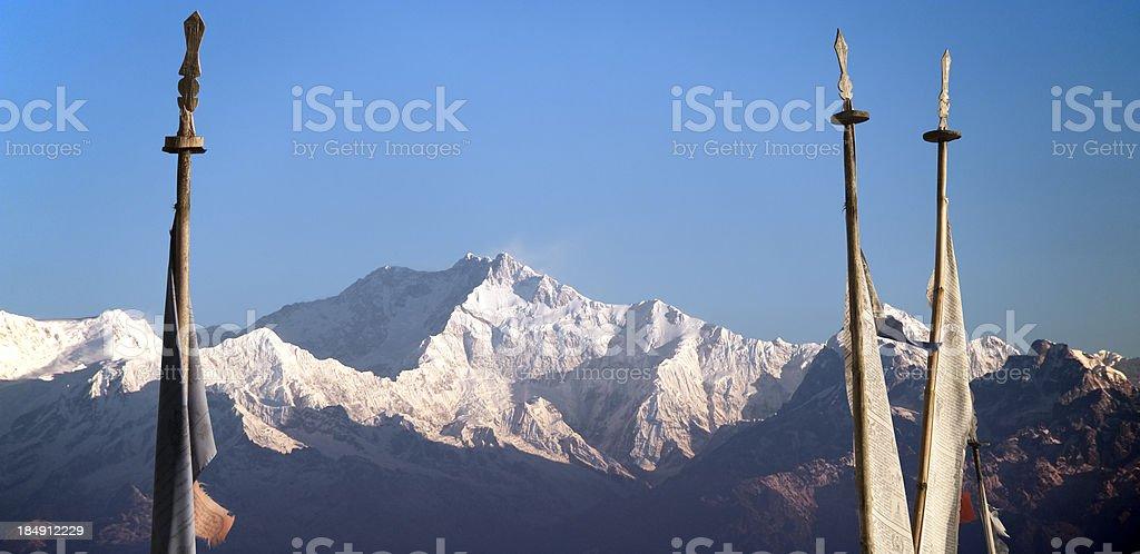 Himalayan Landscape with Kanchenjunga stock photo