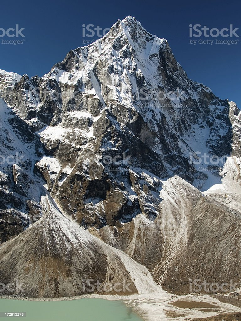 Himalayan Mountain Peak royalty-free stock photo