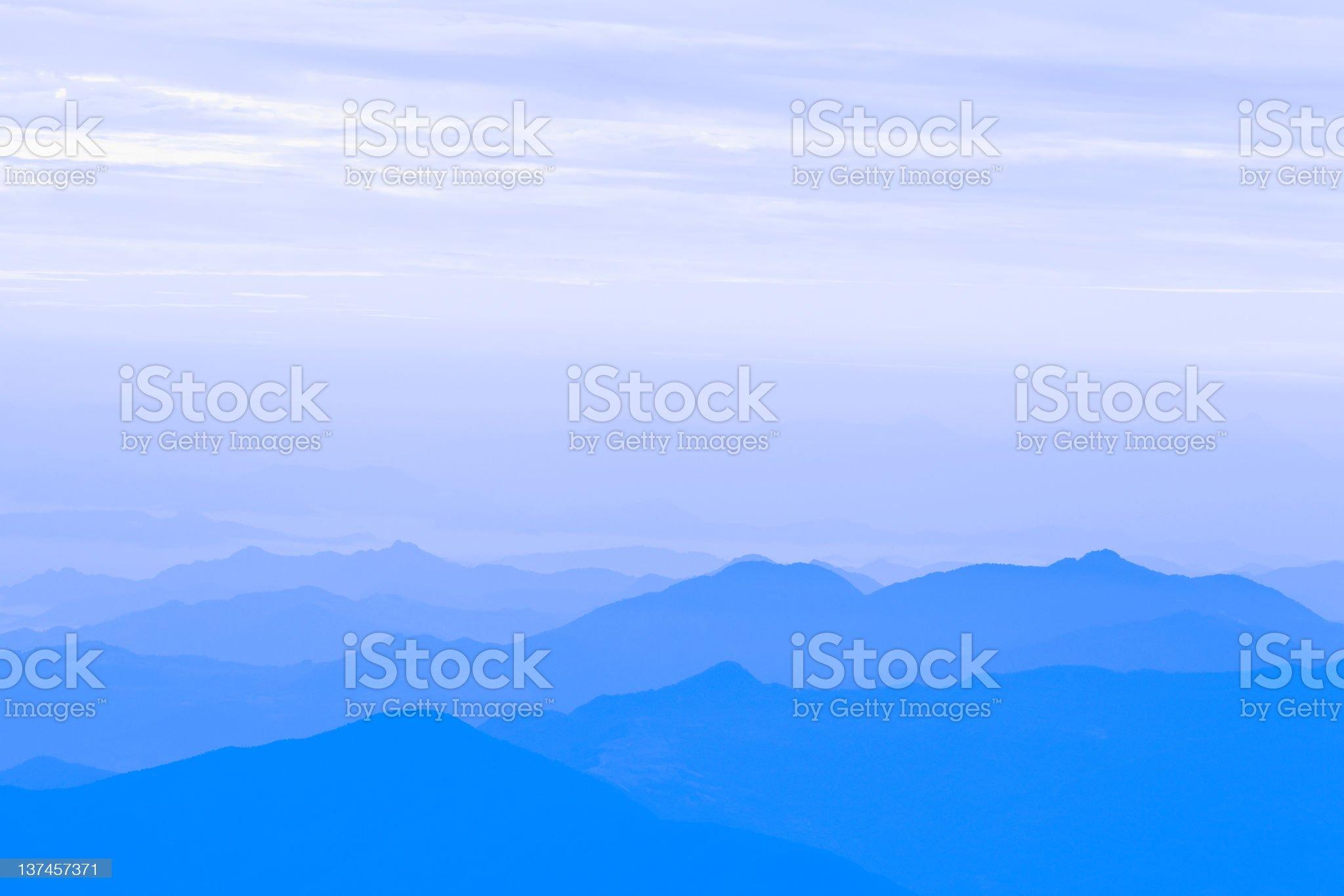 Himalayan mountain range at sunset royalty-free stock photo