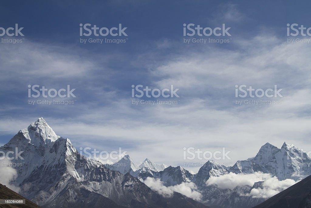 Himalayan Mountain Range royalty-free stock photo