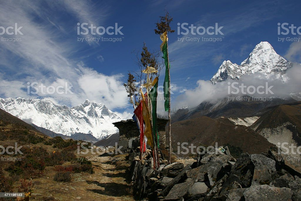 Himalayan Mountain View stock photo