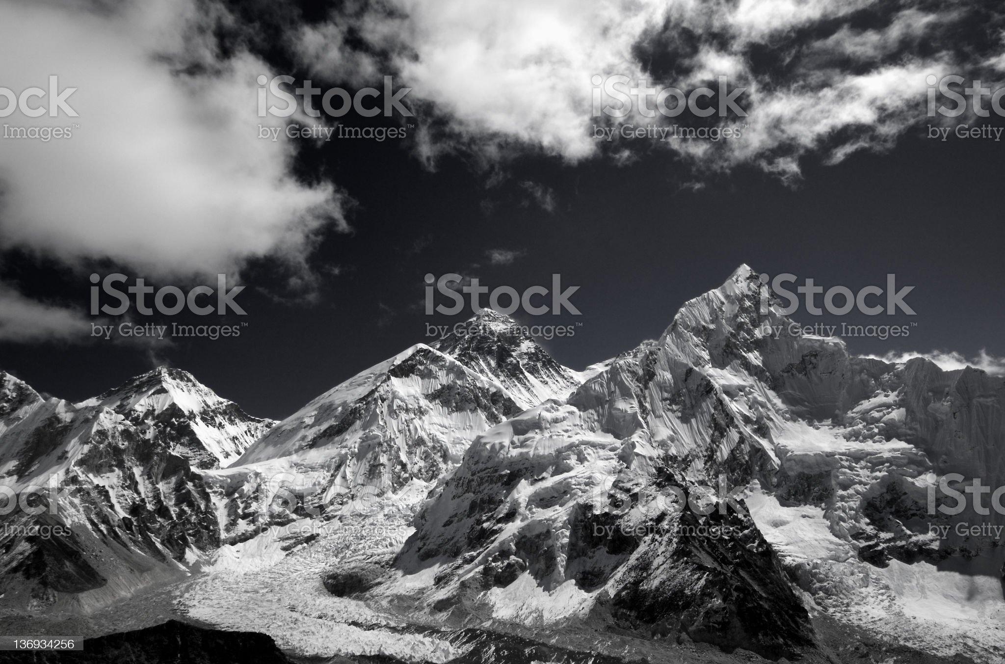 himalayan Peaks royalty-free stock photo