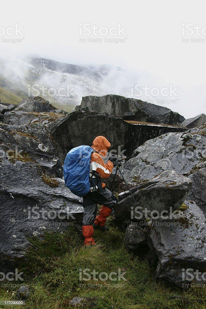 Himalayan trekking stock photo