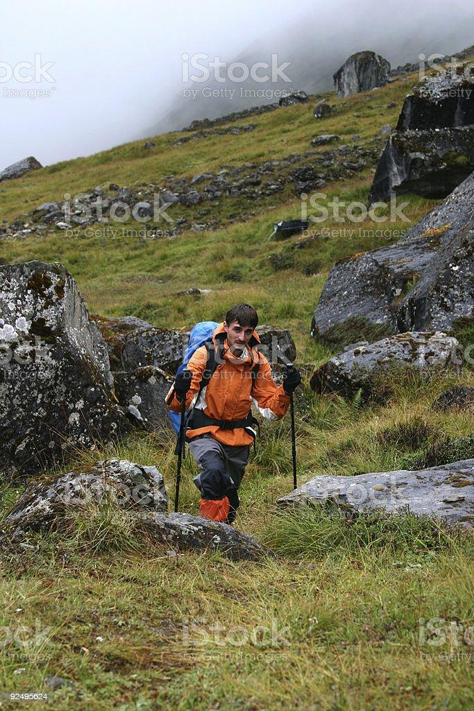 Himalayan trekking royalty-free stock photo