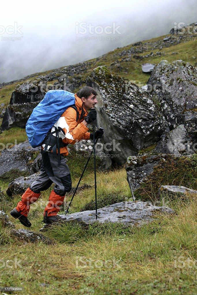 Himalayan trekking/hiking royalty-free stock photo