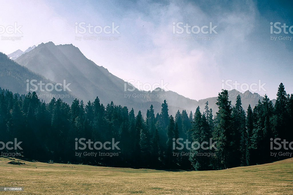 Himalayan Valley stock photo
