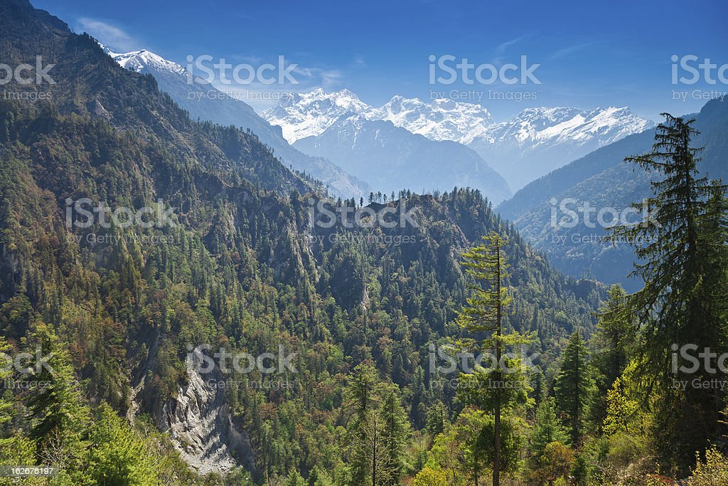 Himalayas landscape, Nepal royalty-free stock photo