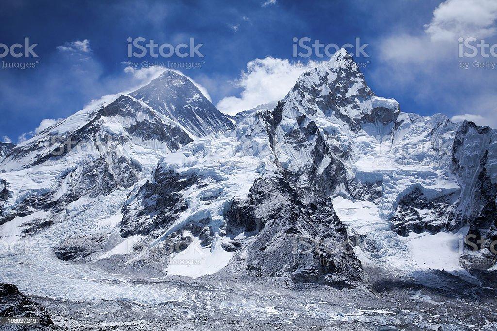 Himalayas mountain range on beautiful sunny day royalty-free stock photo