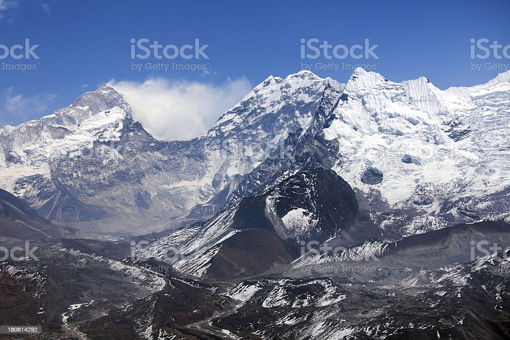 Himalayas mountain range on beautiful sunny day royalty-free stock photo