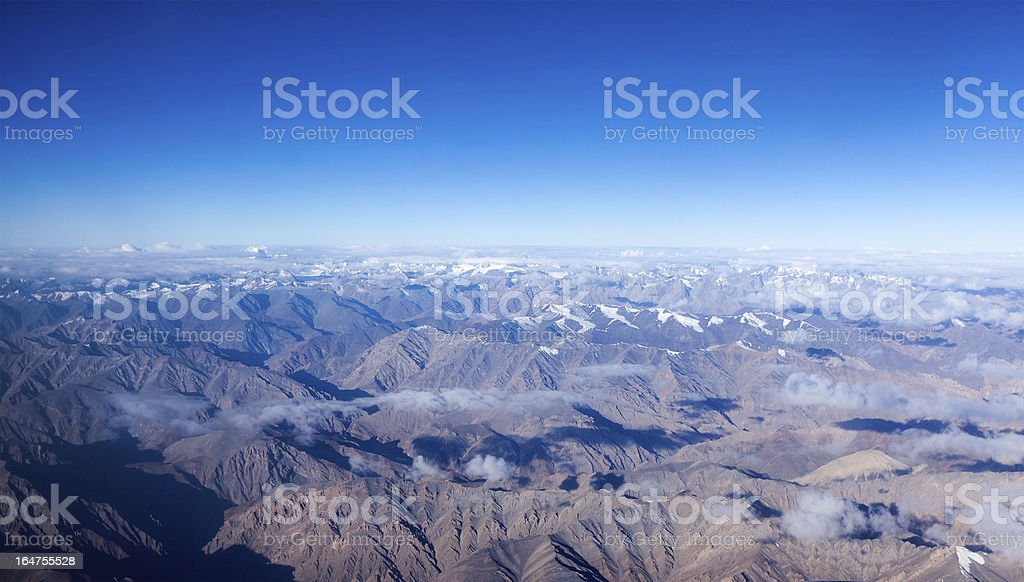Himalayas mountains aerial view royalty-free stock photo
