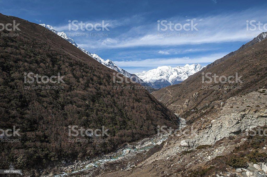 Himalayas Nepal. stock photo