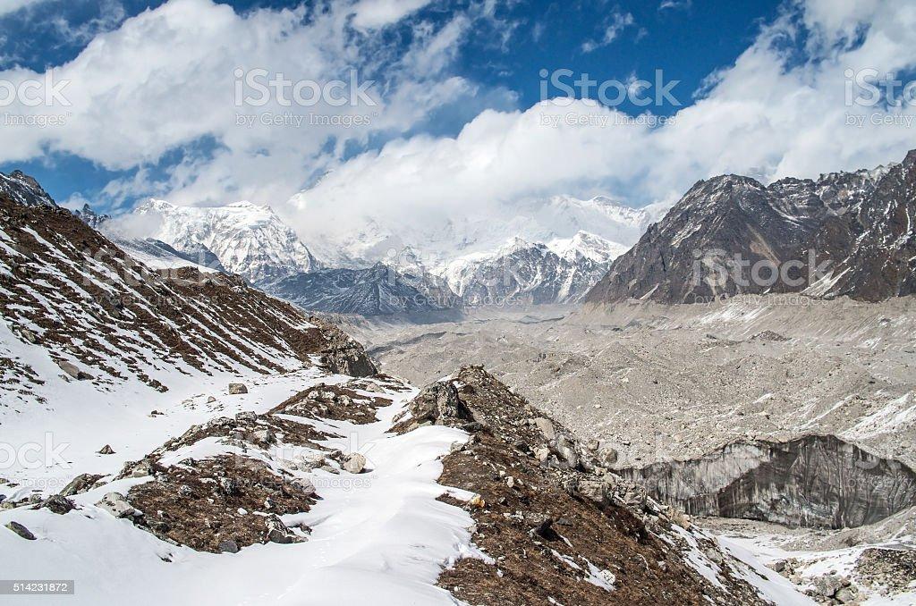 Himalayas. Ngozumba Glacier ,  Nepal stock photo