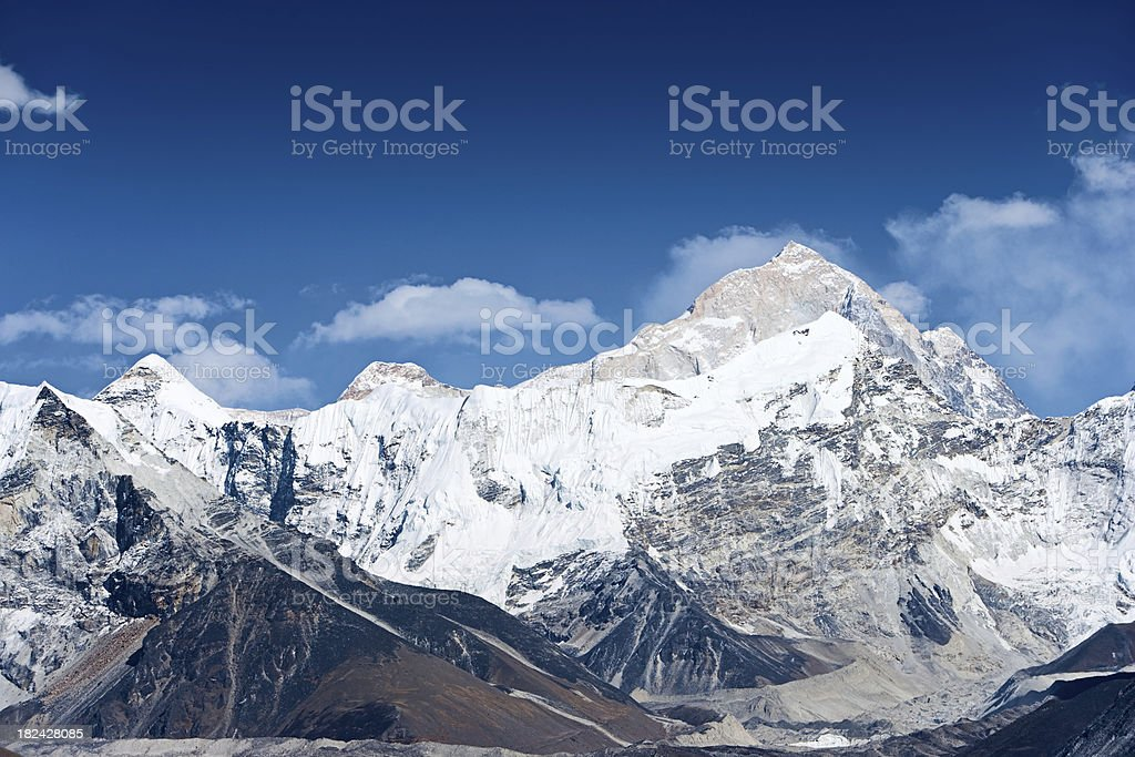 Himalayas panorama - Mount Makalu royalty-free stock photo