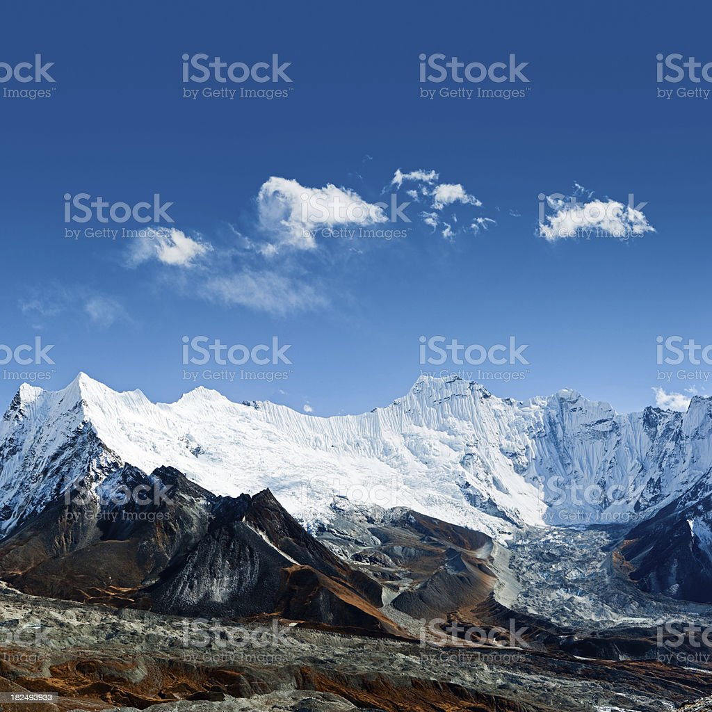 Himalayas panorama royalty-free stock photo