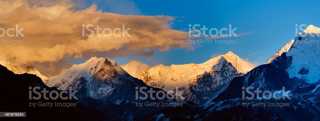 Himalayas panorama stock photo